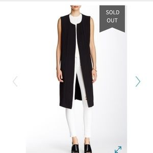 Cover-up long sleeveless vest